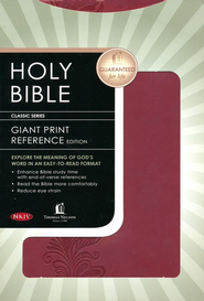 NKJV Personal Size Giant Print Reference Bible - LeatherSoft Burnished Burgundy, Filigree  -