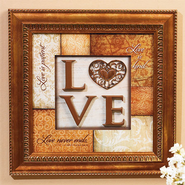 Love Plaque, 1 Corinthians 13:4,8  -