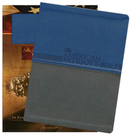 NKJV American Patriot's Bible: The Word of God and the Shaping of America, Large Print, Leathersoft Blue  -     By: Richard Lee