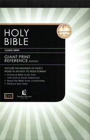 KJV Personal Size Giant Print Reference Bible, Hardcover Black  -