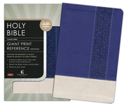 NKJV Personal Size Giant Print Reference Bible, Leathersoft Sapphire Tuscany Kaleid  -