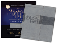 The NKJV Maxwell Leadership Bible, TakeNote Edition, Leathersoft Dove Gray - Slightly Imperfect  -
