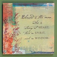 Blessed is the Man Plaque  -