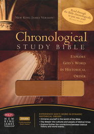 The NKJV Chronological Study Bible, Leathersoft Butterscotch/Amber  -