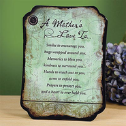 A Mother's Love Plaque  -