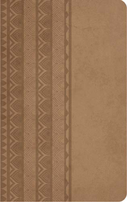 KJV Personal Size Reference Bible, Leathersoft, Brown Sugar  -