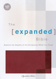 The Expanded Bible, Leathersoft Chestnut   -