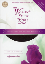 KJV The Woman's Study Bible, Bonded leather, burgundy  -