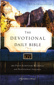 KJV Devotional Daily Bible, Hardcover, Multicolor  -