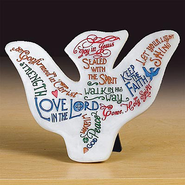Marble Praise Dove Plaque  -