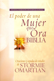 Biblia El Poder de una Mujer que Ora NVI, Enc. Dura  (NVI The Power of a Praying Woman Bible, Hardcover)  -     By: Stormie Omartian