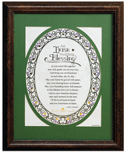 An Irish Wedding Blessing Framed Print  -