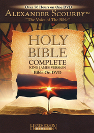 KJV Complete Bible on DVD   -              Narrated By: Alexander Scourby                   By: Narrated by Alexander Scourby