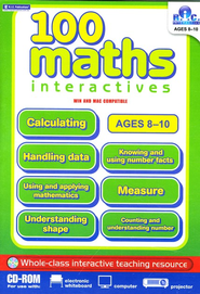 100 Math Interactives Grades 3-5 CD-Rom   -