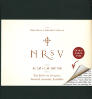 NRSV XL-Print Bible, Catholic Edition--imitation leather, green  -