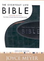 Everyday Life Bible, Bonded leather, Deep Teal With Graphite Inset  -     By: Joyce Meyer