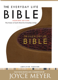 The Everyday Life Bible, Bonded Leather, Bronze with Rich Brown Alligator Inset  -     By: Joyce Meyer