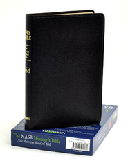 NASB Minister's Bible, Genuine leather, Black   -
