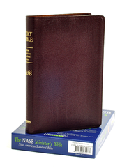 NASB Minister's Bible, Genuine leather, Burgundy   -