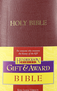 KJV Gift & Award Bible, Imitation leather, Burgundy   -