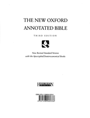 The New Oxford Annotated Bible, NRSV with the Apocrypha, Third Edition, Looseleaf pages only  -