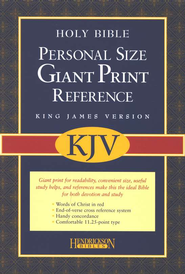 KJV Personal Giant Print Reference Bible Blue Bonded Leather  -