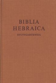 Biblia Hebraica Stuttgartensia (BHS) Standard Edition  -     Edited By: Karl Elliger, Willhelm Rudolph
