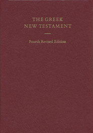 The Greek New Testament, 4th Revised Edition  -     Edited By: Barbara Aland, Kurt Aland, Bruce M. Metzger     By: B. & K. Aland, B.M. Metzger, eds.