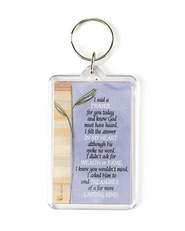 I Said a Prayer Acrylic Keyring