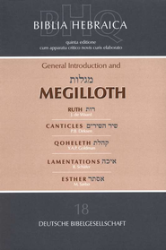 Biblia Hebraica Quinta: General Introduction and Megilloth  -     By: A. Shenker, Y. Goodman, A. VanDerKoij, G. Norton
