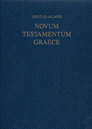 Novum Testamentum Graece (NA27), Wide-Margin Edition   -     Edited By: Eberhard Nestle, Barbara Aland, Kurt Aland     By: E. Nestle, B. & K. Aland, eds.