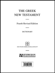 The Greek New Testament (UBS4) with Greek-English Dictionary, looseleaf edition  -              Edited By: Barbara Aland, Kurt Aland, Bruce M. Metzger