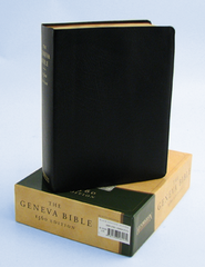 The Geneva Bible: 1560 Edition, genuine leather, black The Bible of the Protestant Reformation  -