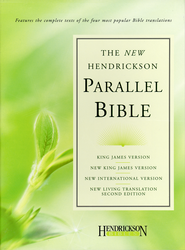 Hendrickson Parallel Bible, Bonded leather, black KJV, NIV, NKJV, & NLT - Imperfectly Imprinted Bibles  -