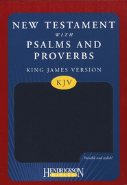 KJV New Testament with Psalms and Proverbs, imitation leather, blue  -