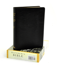 Matthew's Bible, 1537 Edition--Genuine leather, black  -