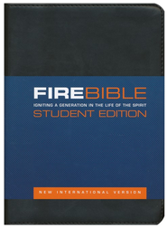 NIV Fire Bible Student Edition Imitation Leather black 1984  -
