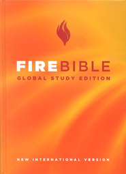 NIV Fire Bible, Global Study Edition, hardcover 1984   -