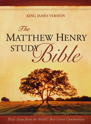 KJV The Matthew Henry Bible, Flexisoft blue/gray Thumb-Indexed   -