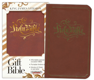 KJV Gift Bible, Flexisoft leather, Espresso  -