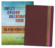 The Complete Jewish Bible - NIV side-by-side, flexisoft leather chocolate/pink  -