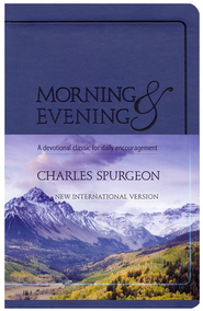 Morning and Evening, NIV Edition, soft leather look,    - Blue  -              By: Charles H. Spurgeon