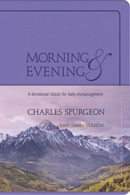 Morning and Evening, soft leather look - Lilac  - Slightly Imperfect  -     By: Charles H. Spurgeon