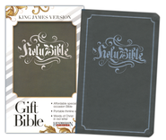 KJV Gift Bible, Flexisoft leather, Gray  -
