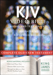 KJV Video Bible   -              Narrated By: Alexander Scourby                   By: Narrated by Alexander Scourby
