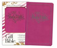 KJV Gift Bible, Flexisoft leather, pink   -