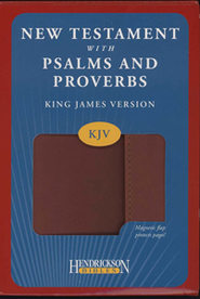 KJV New Testament with Psalms and Proverbs, imitation leather, expresso with flap  -