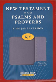KJV New Testament with Pslams and Proverbs, imitation leather, lilac with flap closure  -