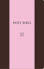 KJV Devotional Bible - Flexisoft Leather, Chocolate/Pink Red Letter - Imperfectly Imprinted Bibles  -
