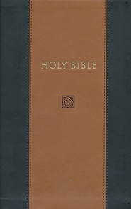 KJV Devotional Bible - Flexisoft Leather, Black & Tan  - Slightly Imperfect  -